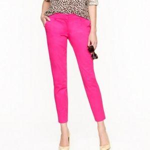 J. Crew cafe capri pants hot pink Easter summer 6